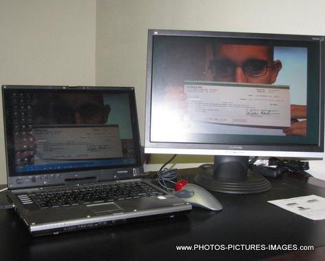 Toshiba Laptop And Viewsonic 22 In LCD Monitor