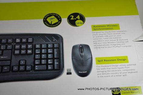 Gear Head 2.4GHz Wireless Desktop With Optical Mouse KB5150W