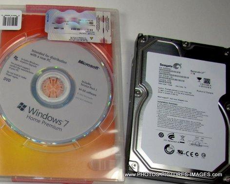 Windows 7 Home Premium 64 Bit OEM With Seagate 1TB Hard Drive